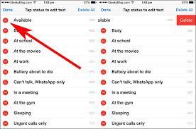 So verwenden Sie die WhatsApp Statusfunktion auf dem iPhone